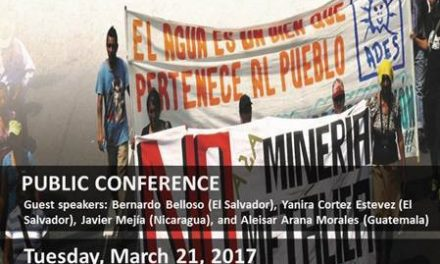 Canada Public Speaking Tour: The human rights costs of Canadian extractive industries in Central America